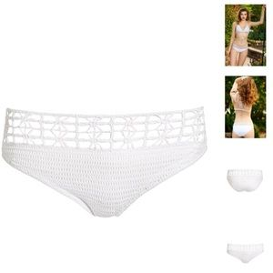 crochet white swimsuit bottoms